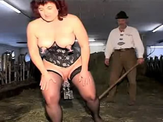 German swingers fuck in the stables
